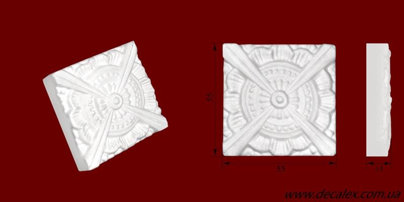 Код товара ФР0007. Орнамент из гипса. Розничная цена 20 грн./шт.