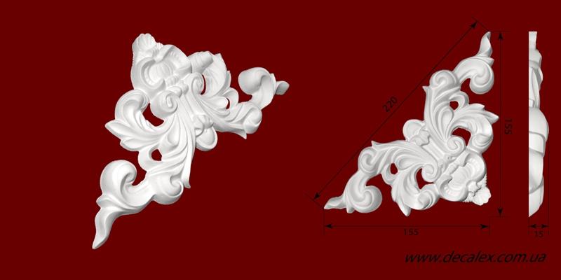Код товара ФР0030. Орнамент из гипса.  Розничная цена 50 грн./шт.