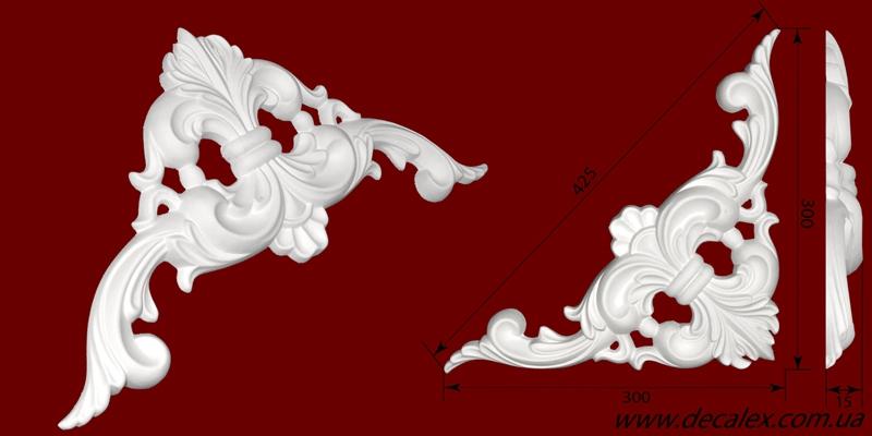 Код товара ФР0016. Орнамент из гипса. Розничная цена 120 грн./шт.