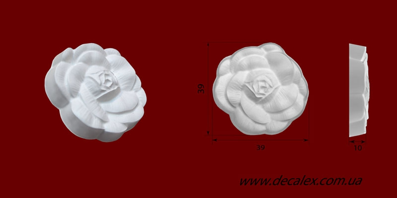 Код товара ФР0058. Орнамент из гипса. Розничная цена 15 грн./шт.