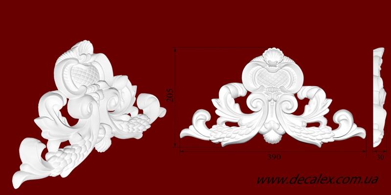 Код товара ФР0074. Орнамент из гипса. Розничная цена 170 грн./шт.